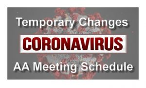 Changes to Local AA Meeting Schedule